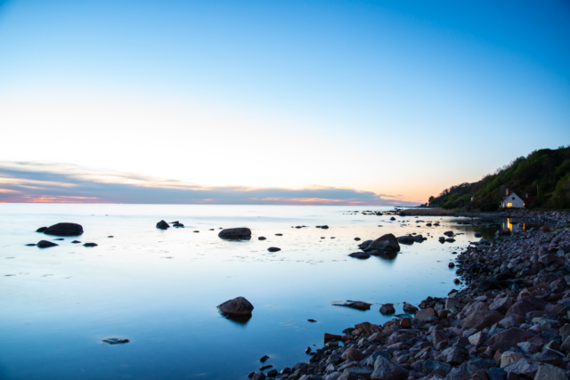 Helligpeder - evening shot Bornholm by Anders Beier